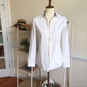 Burberry white button down shirt XS